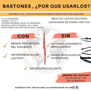 Bastones si o no en trail running